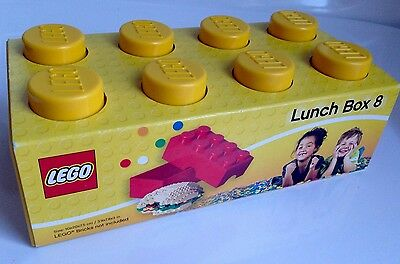 BRAND NEW! Plastic LEGO Lunch Box 8 - Yellow - Food Storage Container