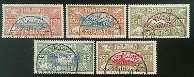 ICELAND Superb Used Complete Set Parliament 1930 Air-Mail