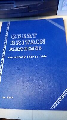 Whitman Folder : Great Britain Farthings Collection 1937 to 1956 (1 coin missing