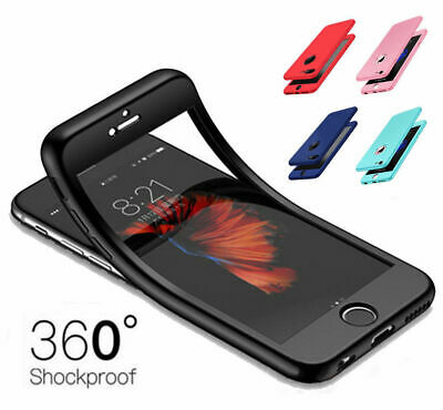 Hybrid Shockproof 360° Thin Silicone Gel TPU Phone Case Full Cover For iPhone