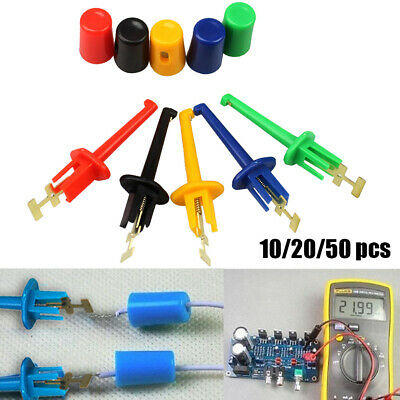 Colorful Mini Hook Clip Test Probe Electronic Testing Multimeter Lead Wire