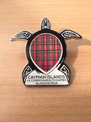 Glasgow 2014 Commonwealth games collectable PIN BADGE Cayman Islands