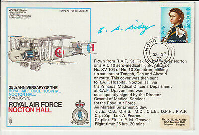 """Hong Kong - 1972 Cover Flown From """"raf Kai Tak"""" - Signed"""