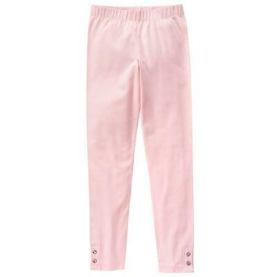 "NWT Gymboree Girls ""Enchanted Winter"" Pink Leggings with Gem Button Cuffs Sz 7-8"