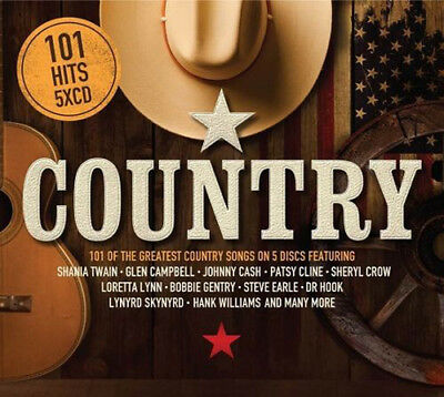 Various Artists : 101 Hits: Country CD Box Set 5 discs (2018) ***NEW***