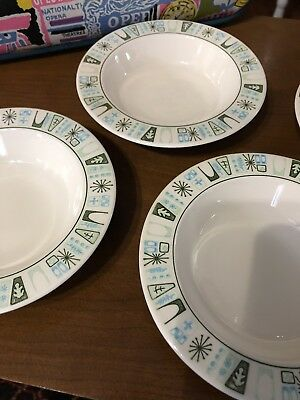Taylorstone CATHAY Cereal Bowls Atomic Mid Century By Taylor-Smith&Taylor 4pc