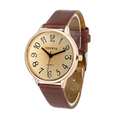 US Fashion Womens Ladies Watches Faux Leather Analog Quartz Casual Wrist Watch