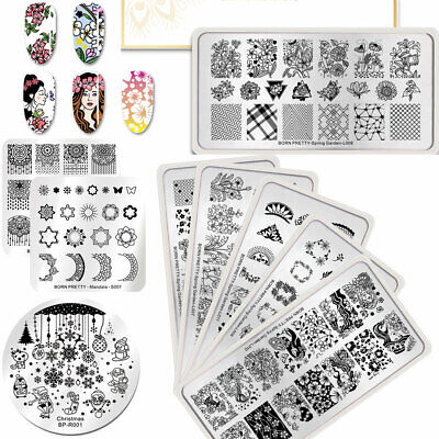 BORN PRETTY Spring Design Stamping Ongle Plaque Nail Art Flower Image Plate DIY