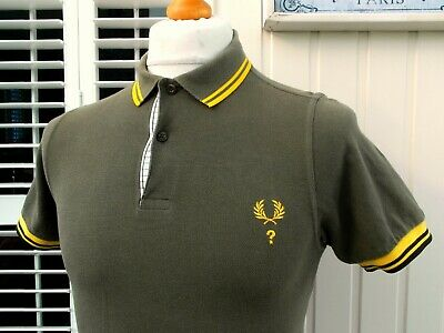 """Fred Perry Khaki Special Edition Slim Fit Polo - 36"""" - Mod Ska Scooter Casuals"""