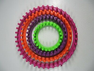 Knifty Knitter- 4 Hoops-Excellent Condition- Hats Scarves