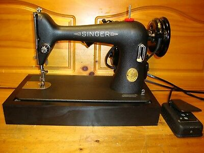 "Vintage Singer Sewing Machine Model 66-18 ""godzilla""  , Heavy Duty ,serviced"