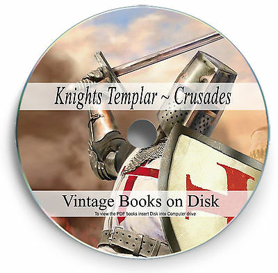 Rare Books Knights Templar DVD The Crusades Medieval Christian War History 270