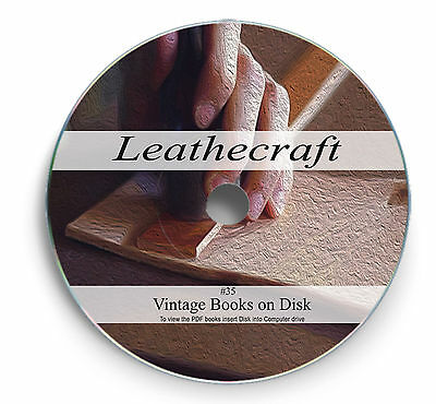 Books on DVD Rare Leather Craft Learn Tanning Work Shoe Boot Making Hide Coat 35