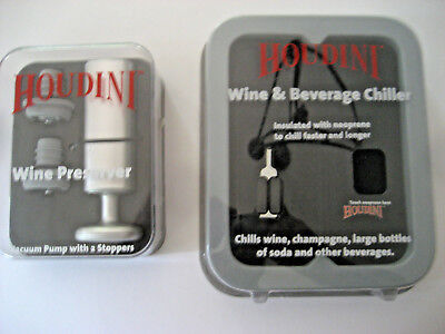 2 NEW items HOUDINI Wine & Beverage Cooler/Chiller AND Wine Preserver, Metrokane