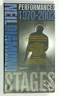 Neil Diamond - Stages: Performances 1970-2002 ~ NEW 5-CD/1-DVD Box Set (6 Discs)