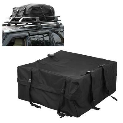 Car Vehicle Waterproof Roof Travel Bag Cargo Pack Bag Storage Box Luggage Black