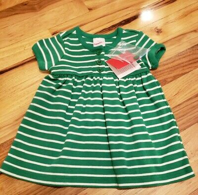 1e9940c9228 NWT Hanna andersson Striped Playdress Girl s toddler SIZE 75 Green White  40