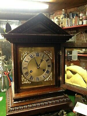 Antique Gustav Becker Ting Tang Bracket clock fully restored