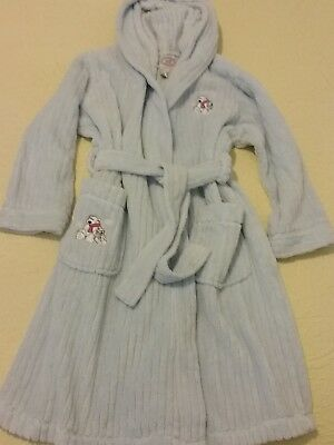 Vintage  Childs Blue Tufted Chenille Belted Bath Robe size M