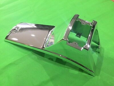 Chrome Plastic Vespa PX 125 150 200 MY Disc Horn Cover - Smooth Type