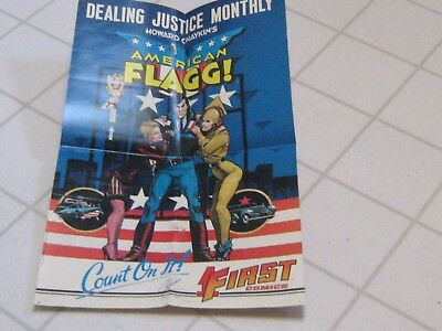 American Flagg, First Comics Poster, Signed and numbered by Howard Chaykin's