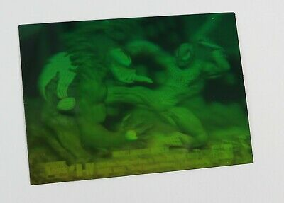 Vintage 1993 Marvel Universe 4 Spider-man vs Venom Green Hologram H-IV Card