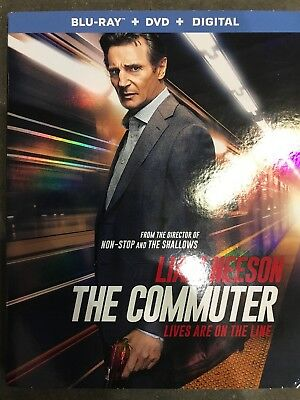 The Commuter (Blu-ray + DVD + Digital) 2018 , w/ SLIP COVER ***SEALED & NEW***