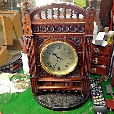 W & H Bracket Clock with ornate decoration.