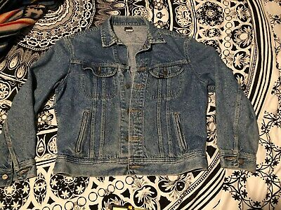 LEE Vintage 1960's Rider Denim Jean Rock Trucker Jacket Size Medium Made in USA