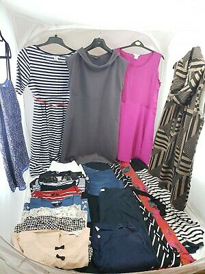 Maternity Clothes Bundle 21 items Dresses Trousers Tops Shorts Size 12