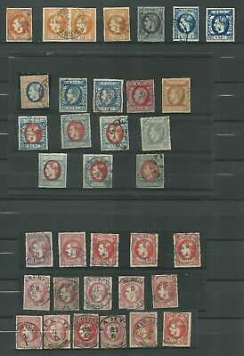 ROMANIA 1868 - 1872  Collection of 35 Classic Stamps Lot  Used Signed