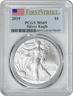 2019 American Silver Eagle Dollar First Strike MS69 PCGS