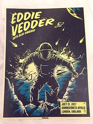 EDDIE VEDDER ~ Hammersmith Apollo ~London 2012 Poster