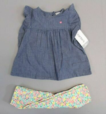 12dff1c60 Carter's Girl's 2-Piece Flannel Tunic & Printed Legging Set AB3 Pink Size 5T  NWT