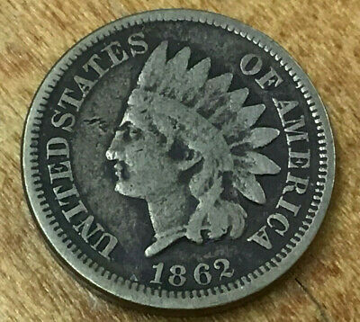 1862 Indian Head Cent - Old Civil War Coin - Bidding Starts At .99 Cents