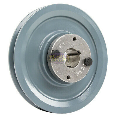 """Cast Iron 5.75"""" Single 1 Groove Belt A Section 4L Pulley with 1"""" Sheave Bushing"""