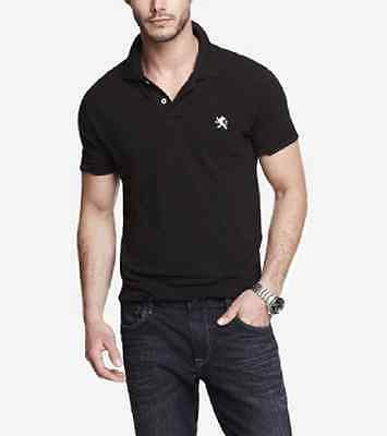 NWT  M  EXPRESS Men s Solid Tipped Small Lion Logo Stretch Pique ... 2f5bf76d5390d
