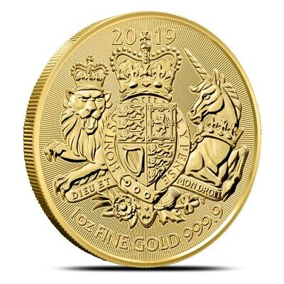 2019 Great Britain (UK) .9999 Gold 1 Oz The Royal Arms Coin £100 BU