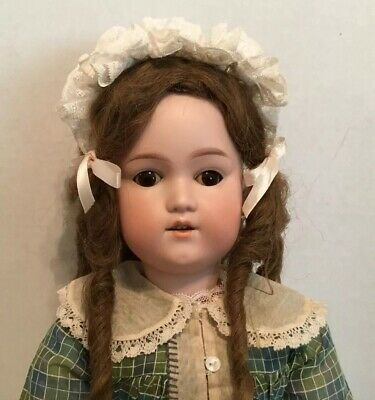 Antique German George Borgfeldt Bisque Doll G.b. 25 Inch Fully Jointed Beautiful