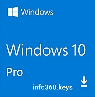 Windows 10 PRO- KEY/CLAVE LICENCIA/LICENSE 100% ORIGINAL 32/64 Multilenguaje