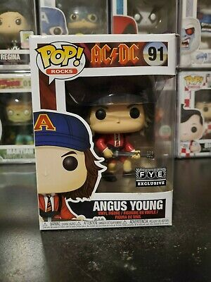 Funko Pop! Rocks ACDC Angus Young #91 FYE Exclusive WITH PROTECTOR!