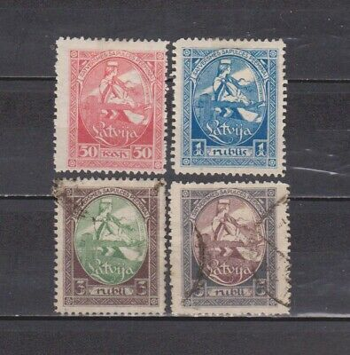 Letonia / Latvija - 1920 - 1St Nat. Assembly - Complete Set Of 4 Mh/used