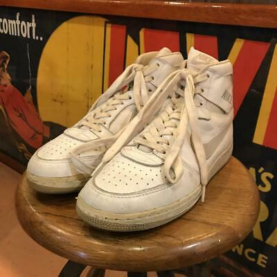 best service fdb85 381ed NIKE TEAM CONVENTION White Vintage Sneakers Sports Shoes size US 10 12 Y107