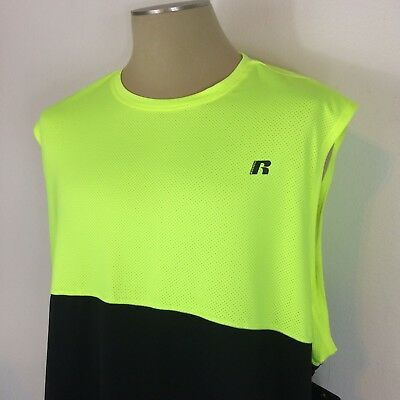 b9f3348433828 New NWT Men s Athletic Training Fit Yellow Tank Top Muscle Shirt Size Big  3XL