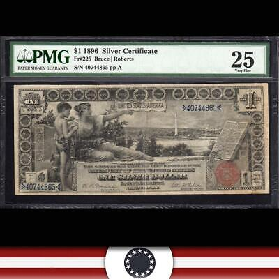 1896 $1 Silver Certificate PMG 25 Fr 225 *EDUCATIONAL*   40744865