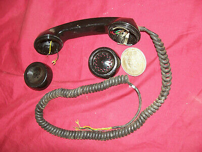 Old Payphone Plastic Handset Dial Cord 4 Wire Telephone Coin Vintage Phone Parts
