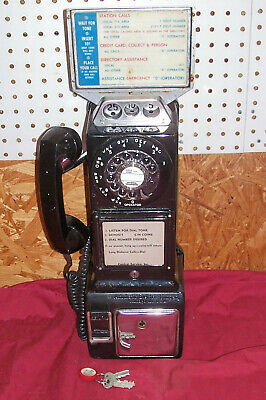 Old 3 Slot Automatic Electric LPB Home Payphone AE Coin Vintage Telephone Phone
