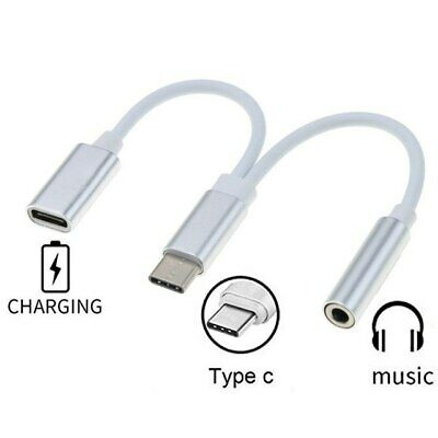 2in1 Cable Type C to 3.5 mm Jack For Audio Headphone and Charger USB Adapter