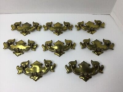 Vintage Ornate Brass Metal Drawer Handles ( Lot of 8) Chippendale Bail