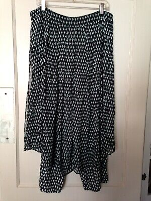 HD in Paris Anthropologie Waterfront skirted pants with overskirt black 14 L XL